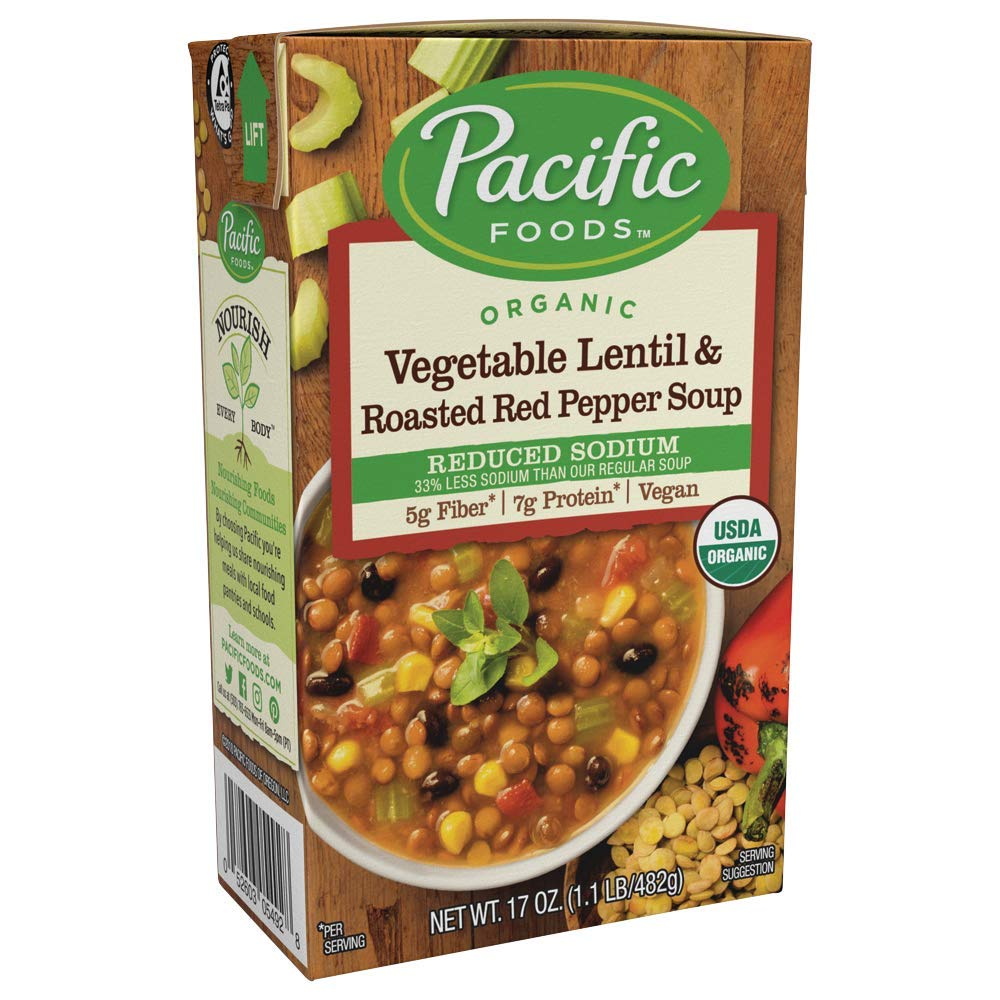Pacific Foods Organic Reduced Sodium Vegetable Soup, 17oz by Pacific Foods