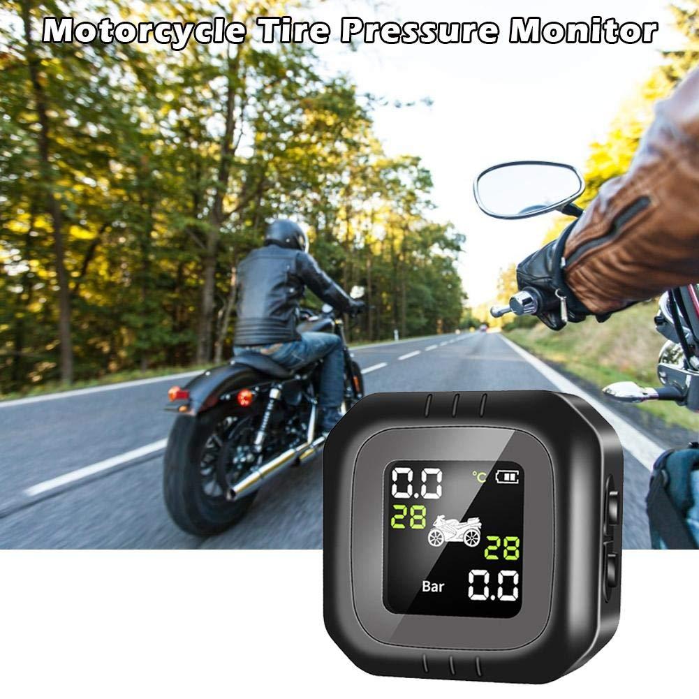 Tpms Reifendruck Kontrollsystem Motorrad Universelle Wasserdichte Solarenergie Drahtloser Monitor Zur Erkennung Externer Motorradreifen