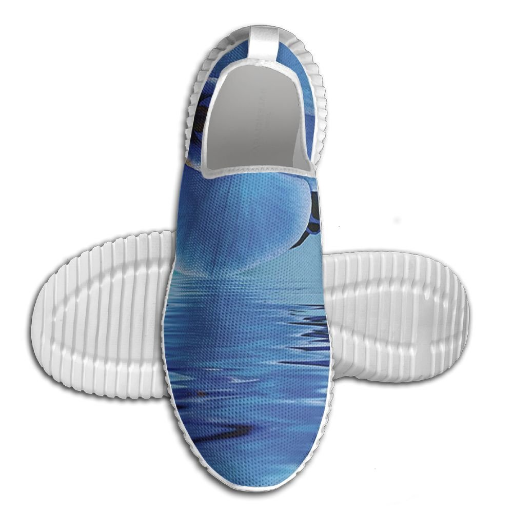 DiamondsJun Unisex Orchids Asian Natural Flowers Reflections On Water For Spring Time Relaxing Print All Over 3D Printed Mesh Slip On Fashion Comfortable Shoes 40