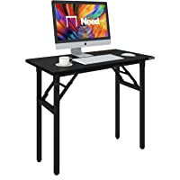 Need Folding DeskTable for Computer 80 cm Length No Assembly Sturdy and Heavy Duty Writing Desk for Small Spaces and…