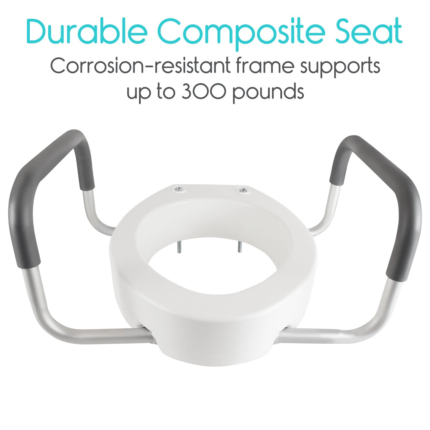 Toilet Seat Riser With Handles By Vive Livelyseniors