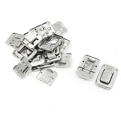 """10 Pcs 1.4"""" Silver Tone Stainless Steel Toggle Latch Catches for Suitcase"""