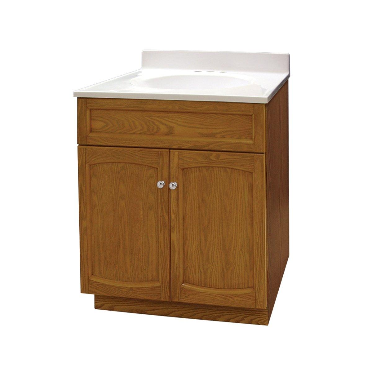 Foremost heo2418 heartland 24 inch oak vanity with top 30 Bathroom vanity and medicine cabinet combo