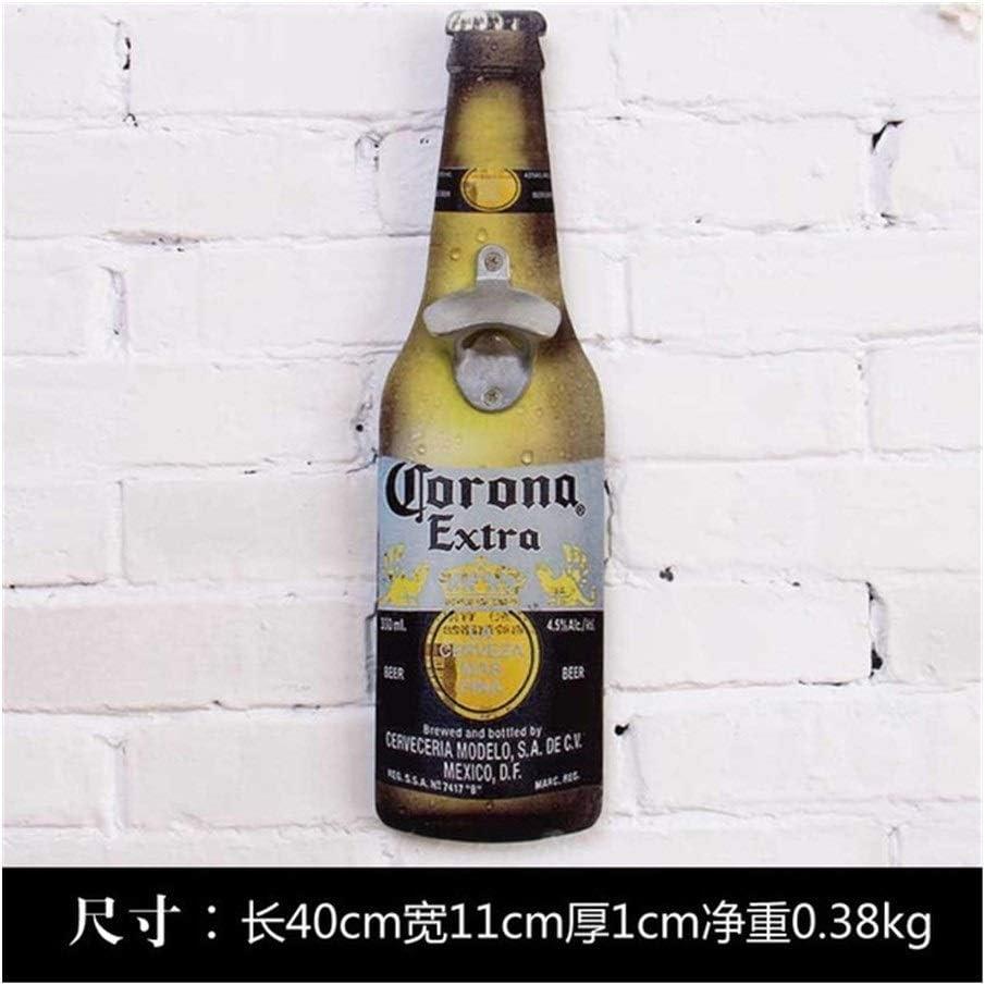 Montado en la pared Americana Eroupean cerveza del estilo de la vendimia pared en forma de botella abridor montado en la pared de la botella Abridores montado en la pared de madera placas colector de