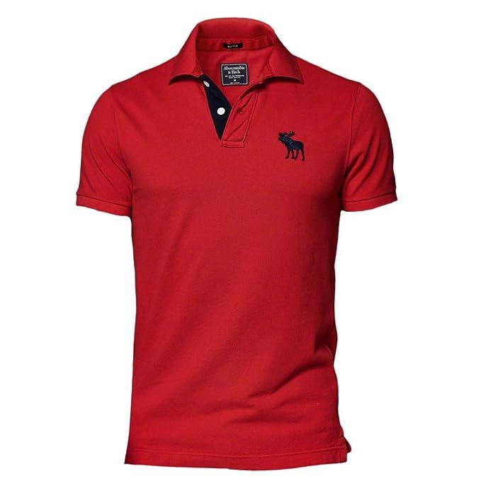 7078d637029071 Abercrombie uomo pop pattina Icon Slim Fit maglietta polo t-shirt Red  Large: Amazon.it: Abbigliamento