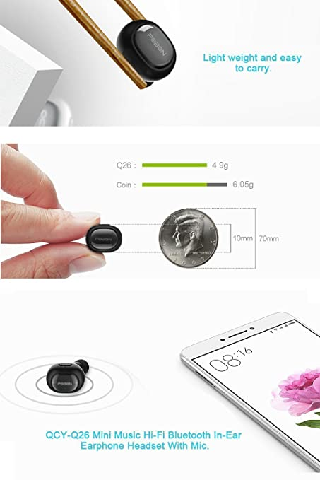 Amazon.com: Bluetooth Headset, Q26 Mini Invisible Earpiece In Ear V4.1 Wireless Bluetooth Car Headset Headphone Earbud Earphone with Microphone Hands Free ...
