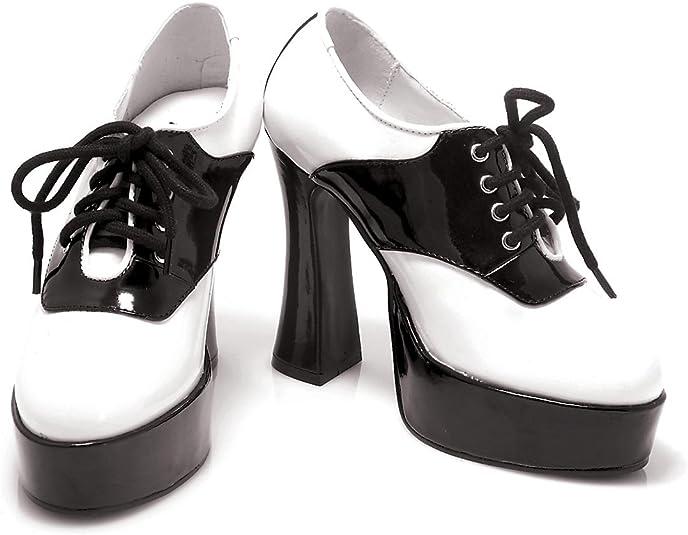 Saddle Chunky Heel Saddle Shoe (Black