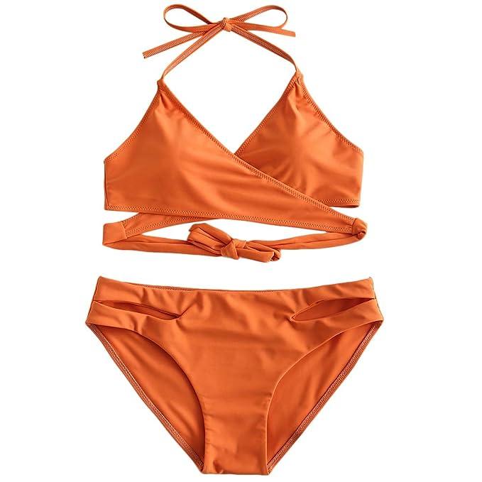 b024642bc8 Amazon.com: ZAFUL Womens Padded Push-up Bandage Bikini Set Bathing Suits  Two Pieces Swimsuit: Clothing