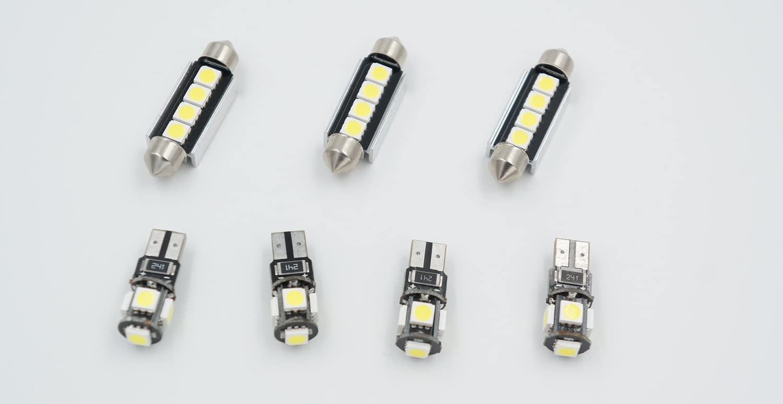 7pcs Canbus Blanco LED SMD Interior C/úpula de luz Kit l/ámpara//lectura Bombilla