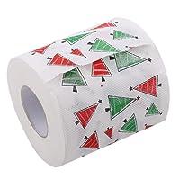 Jannyshop Noël Papier Toilette Papier 3D Modèle Père Noël Cadeau De Noël Bonhomme De Neige Elk Xmas Arbres Imprimé
