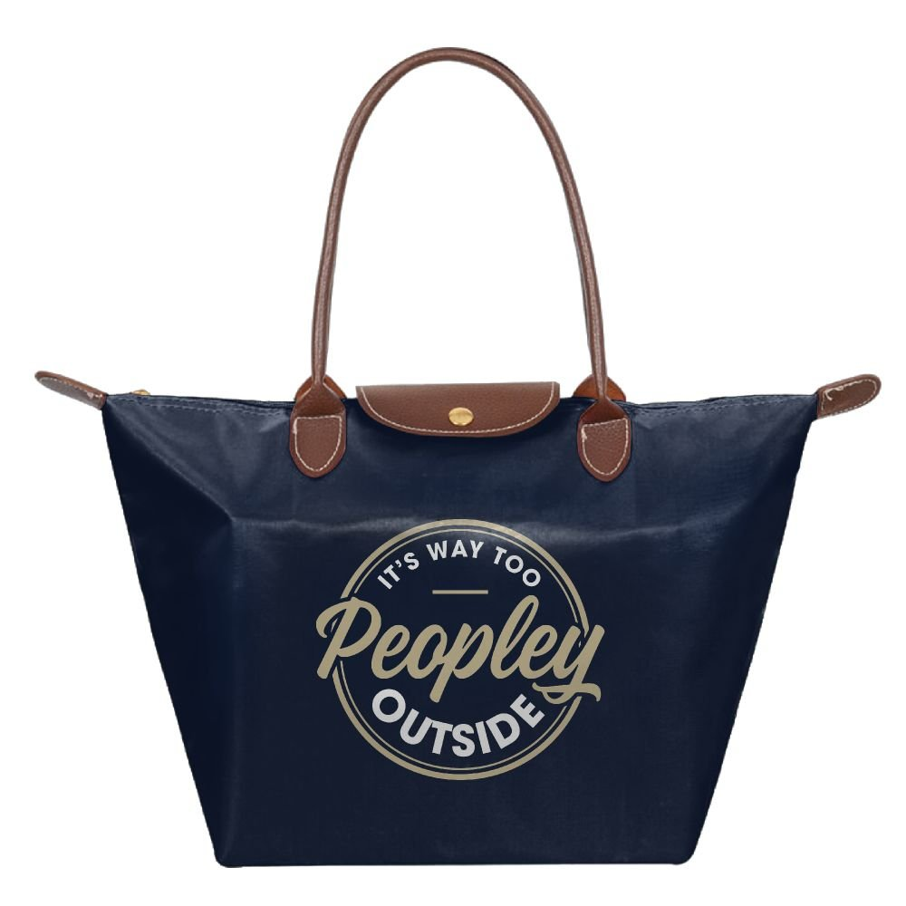 Adwelirhfwer Unisex It's Way Too Peopley Outside Picnic Pack Navy