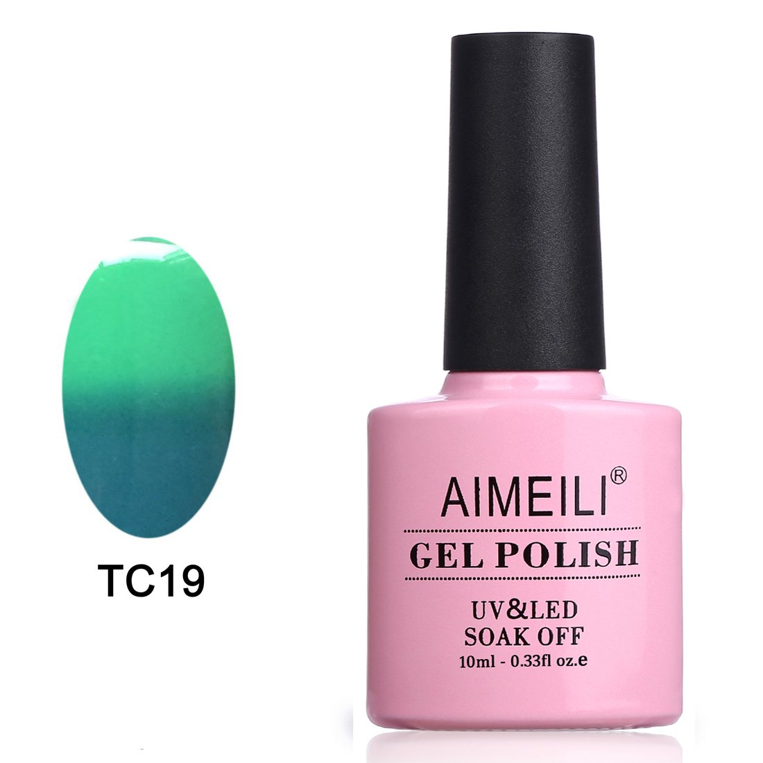 AIMEILI Soak Off UV LED Temperature Color Changing Chameleon Gel Nail Polish - Dryades (TC19) 10ml