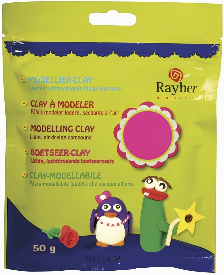 /50g/ /Neon Pink RAYHER 36012264/Modelling Clay/