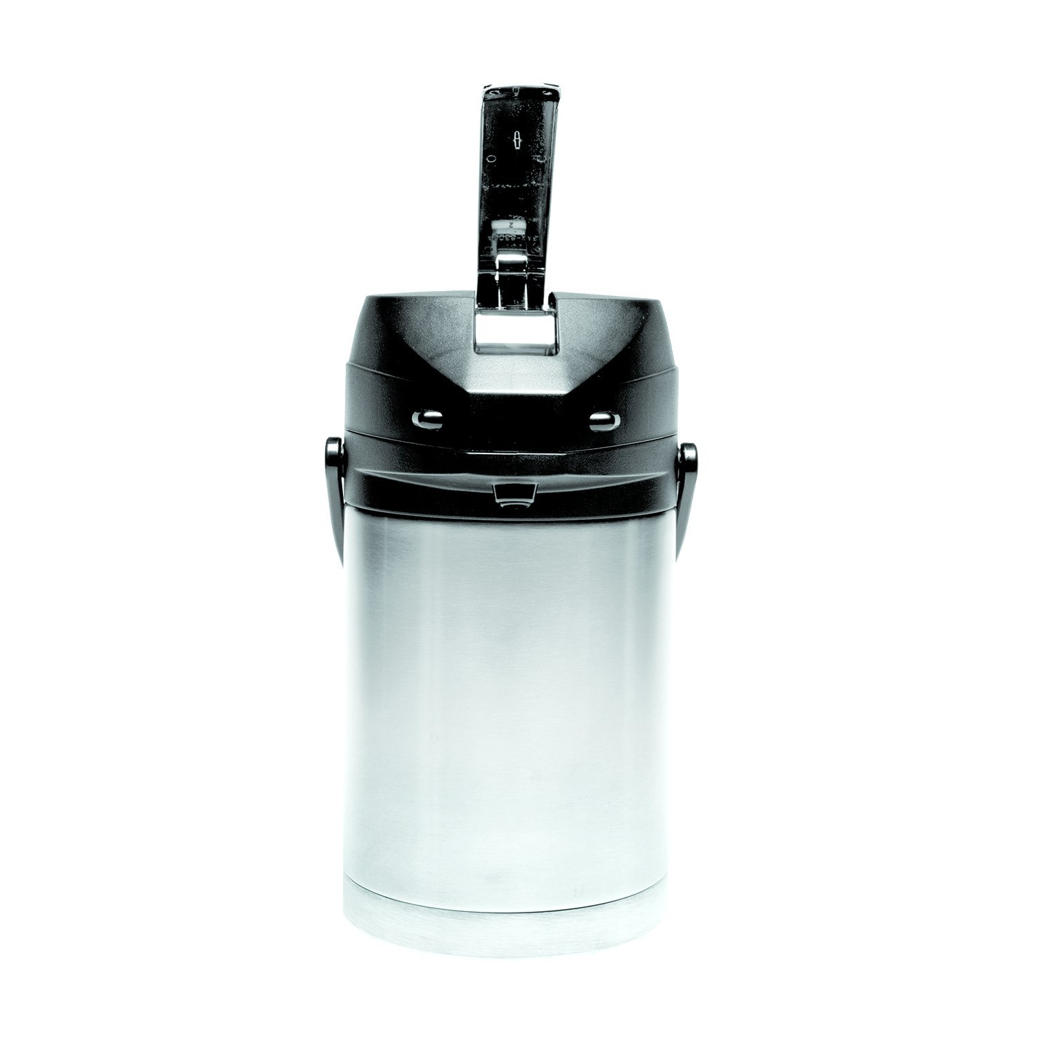 Service Ideas CTAL22BL Airpot with Lever, Stainless Steel Lined, 2.2 L, Black Top