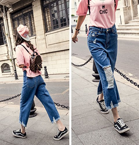 Bleu2 Lache Dexinx Denim t Dchir Cropped Pantalon Hot Jeans Dcontract Femmes lgant Party 87xqrt7