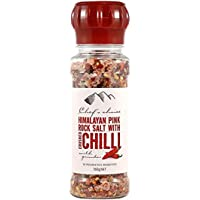 Chef's Choice Himalayan Pink Rock Salt Chili with Grinder, 160 g