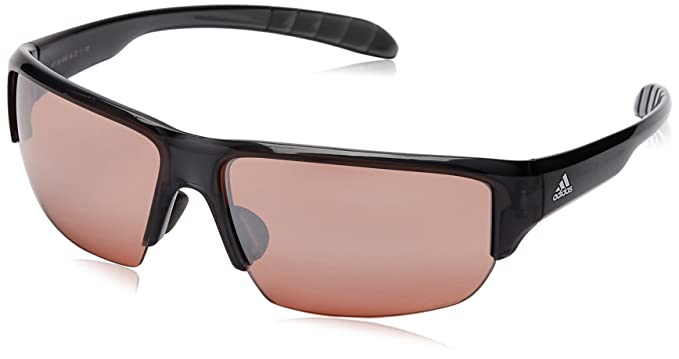 93a9177afe4 Adidas A421 6050 Grey Transparent Kumacross Half Rim Wrap Sunglasses Lens  Categ  Amazon.co.uk  Clothing