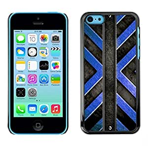 MldieromSmartphone Protective Case Hard Shell Cover for Cellphone Apple Iphone 5C / CECELL Phone case / / Black Blue Cross Pattern /