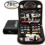 SEWING KIT Equipped w/ Most Useful Sewing Accessories for Home Travel Sewing Emergency Beginners & Campers Qualitative Sewing Supplies for Mending & Sewing Needs Improved Needle Case Great Gift