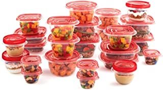 product image for Rubbermaid Take Alongs 50-Piece Food Storage Container Set, (Red)
