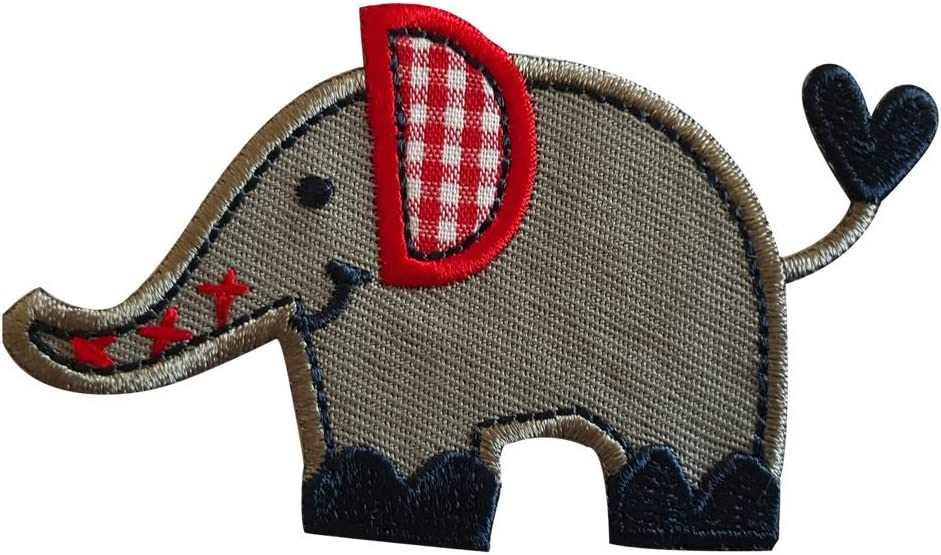 TrickyBoo 2 Aufb/ügler Schildkr/öte 9X6cm Elefant 6X4cm Set Aufn/äher Flicken Applikationen zum Ausbessern von Kinder Kleidung mit Design Z/ürich Schweiz f/ür Deutschland und /Österreich