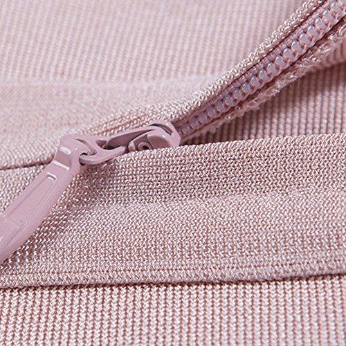 Out Rose Rayon Dress High Bandage Hlbandage Cut Sleeveless necked Midi XSgO1q