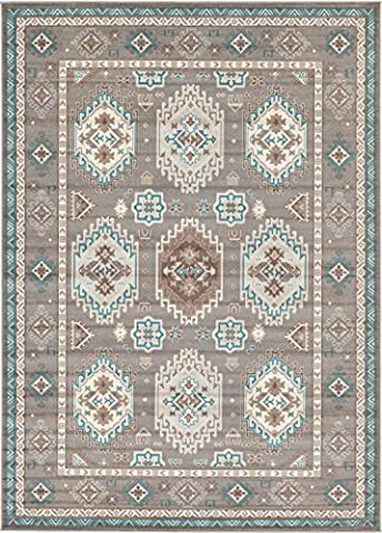 A2Z Rug Traditional Caen Collection Rugs Gray 7' x 10' -Feet Area rug