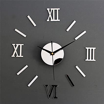 Chitop Luxury Large Wall Clock Living Room - DIY 3D Home Decoration - Mirror Art Design