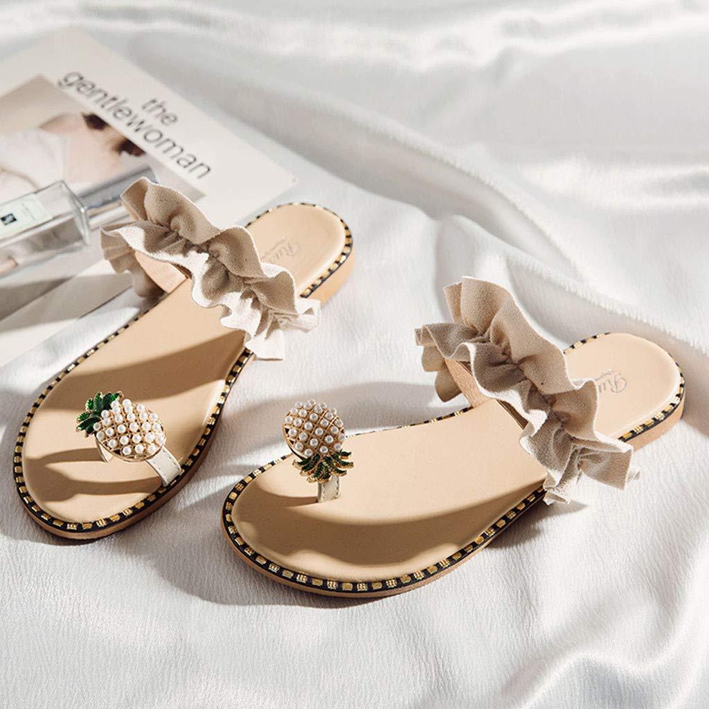 Infradito Donna Eleganti con Strass Mare Sandali Donna Bassi Elegant Scarpe Donna Eleganti estive Pantofole Donna estive Elegant Ciabatte Donna estive da casa Mare