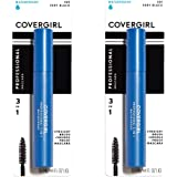 COVERGIRL Professional 3-in-1 Waterproof Mascara, Very Black 225, (Packaging May Vary) Long Lasting Waterproof Mascara…
