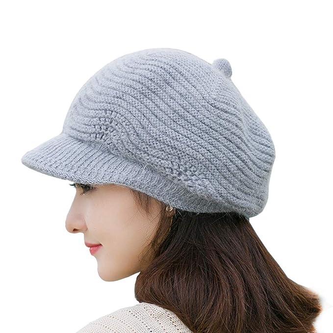 SWEDREAM Sombrero Invierno Gorros de Punto Gorras para Mujeres Crochet  Cálido Suave Sombreros de Esqui (Gris)  Amazon.es  Ropa y accesorios a7b8646dcdb