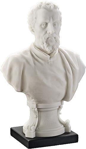 Design Toscano Italian Renaissance Master Bust Michelangelo Statue