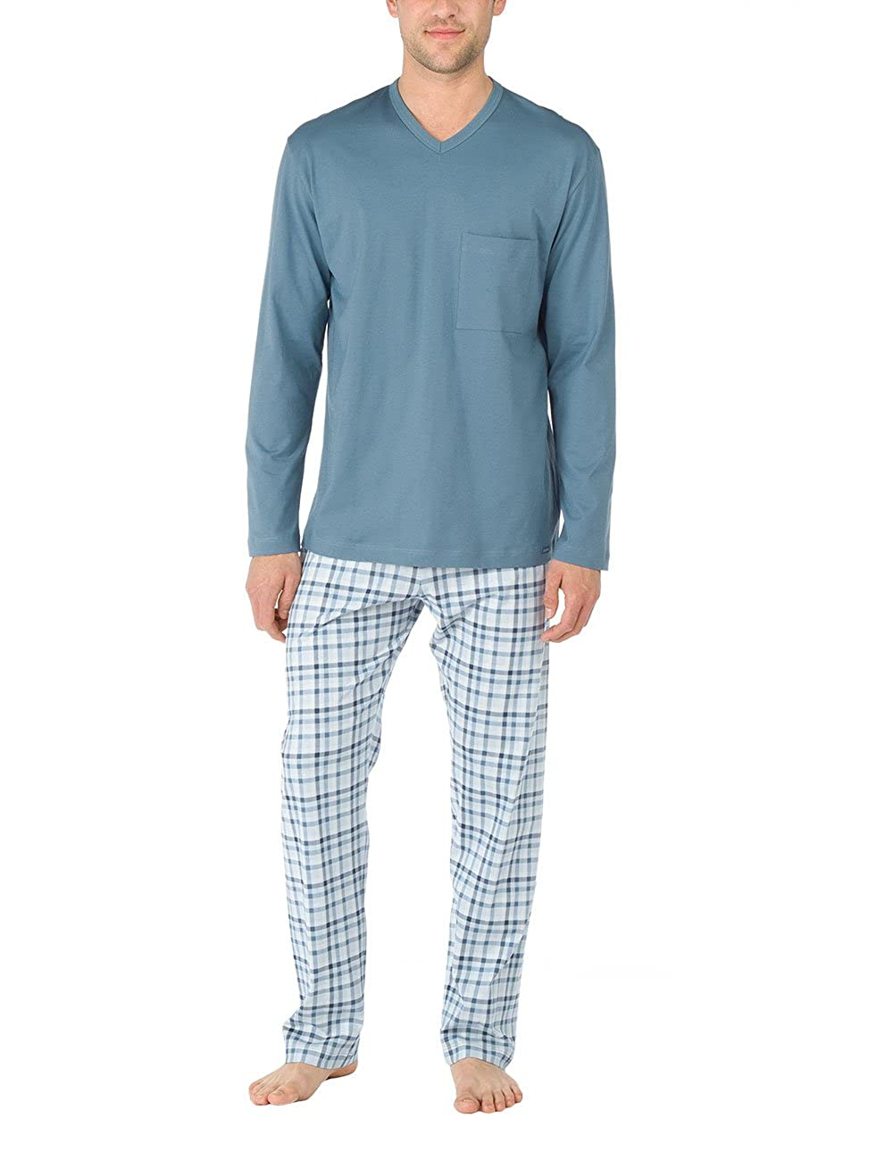 Calida Pyjama Queens, Conjuntos de Pijama para Hombre, Azul (Blue Slate), Large: Amazon.es: Ropa y accesorios