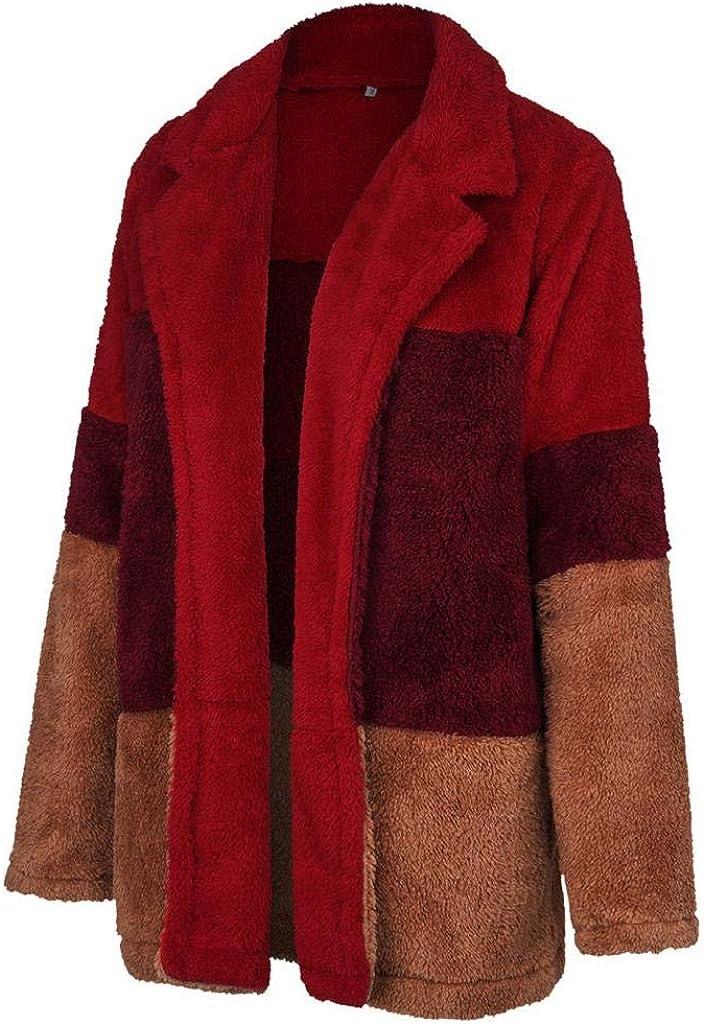 LUCKYCAT Chaqueta de Invierno Mujer,Abrigo de Cremallera de Felpa ...