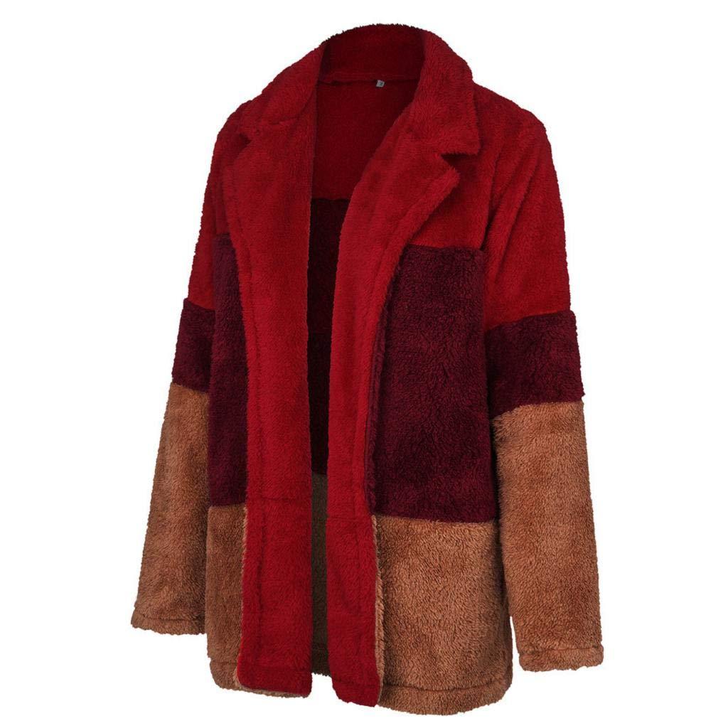 Luckycat Chaqueta de Invierno Mujer,Abrigo de Cremallera de Felpa Jersey de Solapa Suéter de Terciopelo de Cordero Abrigo de Lana: Amazon.es: Ropa y ...