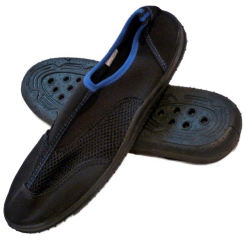 [Beach Socks] ビーチソックスメンズブラック&ブルーAquaソックスビーチ&水靴 8 D(M) US  B0089FEWPC