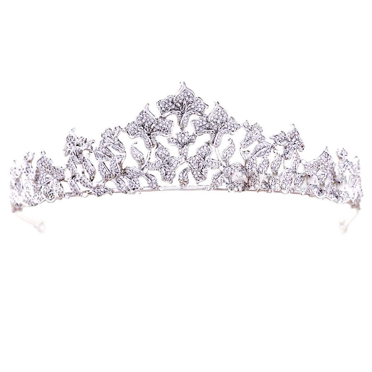 Wedding Crown, Beautiful headdress/High End Sweet And Exquisite Bridal Crown Zircon Wedding Accessories Wedding Dress Headwear Birthday Princess Crown Ornament