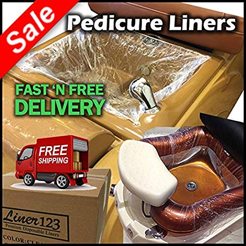 400 Pcs. [2 Boxes] Pedicure Liners for Spa Nail Salon Beauty Massage Foot Feet Soft Plastic with High Quality Elastic Band [$0.20 Each] by dp liners
