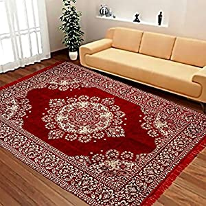 Braids Premium Home Jacquard Weaved Pollycotton Bedroom/Living Room Rugs and Carpets -40