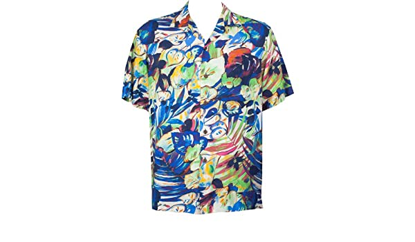 InterestPrint Floral Tropical Jungle Leaves Relaxed-Fit Shirt