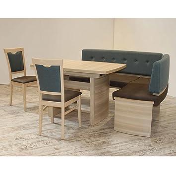 Eckbank Eckbankgruppe Essgruppe PRATO I Essecke Tisch 2 Stühle Sonoma Eiche