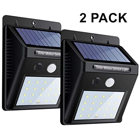 20 LED Luz De Pared Con Sensor De Movimiento Luces De Seguridad Noche Brillante Impermeable Wireless