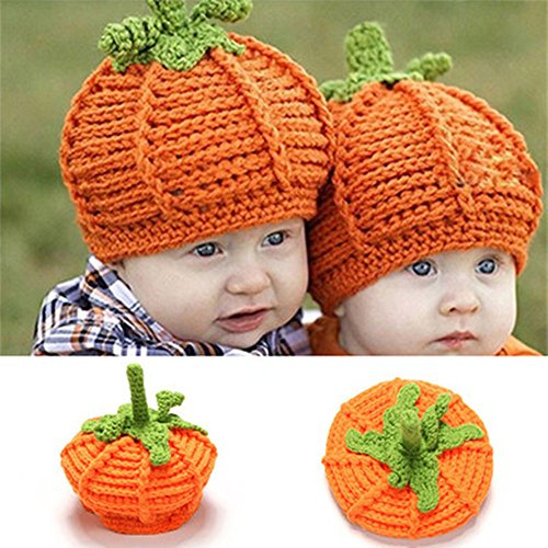 (Baby Thanksgiving Day Halloween Turkey Lion Pumpkin Deer Beanie Hat Photo Props (Large,)