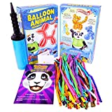 Balloon Animal University PRO Kit with 100 balloons, Now With NEW Sculptures! How-To Videos, Qualatex Balloons, Pump, Instruction Book. Learn to Make Balloon Animals Fun Party Activity Holiday Gift