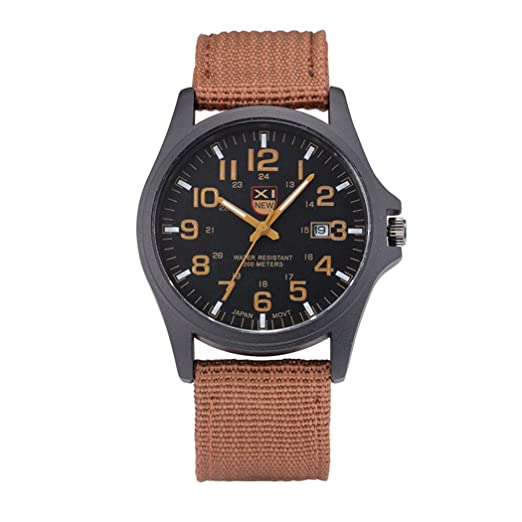 Mens Quartz Watch,COOKI Unique Analog Business Casual Fashion Wristwatch, Luxury Design Watches with Classic Calendar Date Window,Round Dial Case ...