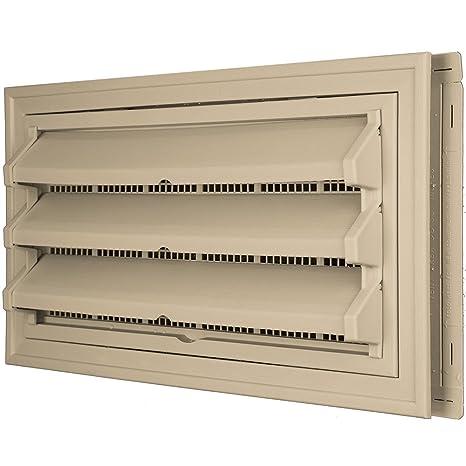 Constructores borde 140036410013 Fundación Kit de ventilación – Anillo Embellecedor y persiana fija Opción (moldeado