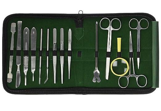 GatGo Kit de disección avanzado, 26 piezas, herramientas de acero inoxidable de alta calidad para disecar, lo mejor para biología/anatomía/botánica y estudiantes veterinarios o profesores con estuche: Amazon.es: Industria, empresas y ciencia