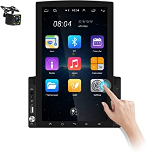 Double Din Android Car Navigation Stereo in-Dash 9.7 Inch Touch Screen Car Radio Support Bluetooth GPS WiFi FM USB AUX-in Mirror Link with Backup Camera+Remote Control