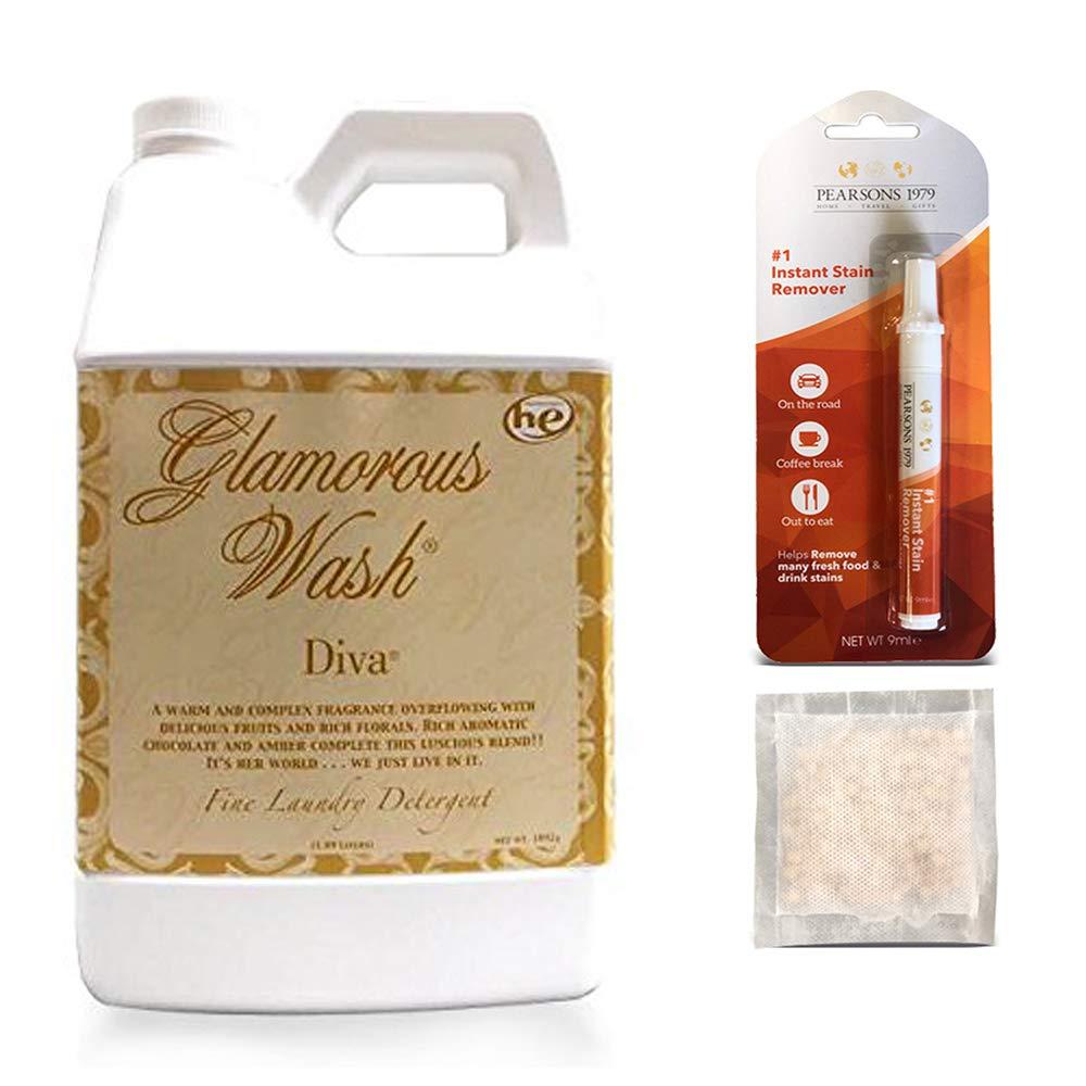 TYLER Diva Glamorous Wash Laundry Detergent -Half Gallon/ 64oz -(with Bonus PEARSONS Stain Remover Pen & Sachet)