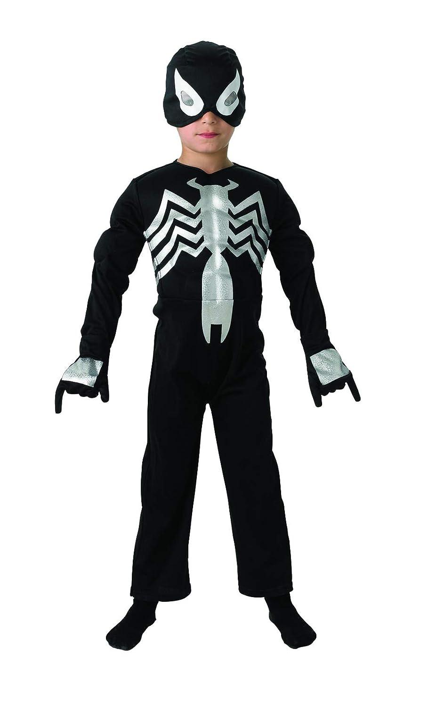 c90279d41eb4c7 Rubies Costume Spiderman officielle pour 3-4 ans - Petit, Noir  Amazon.fr   Jeux et Jouets